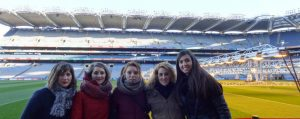 Central English School students at Croke Park