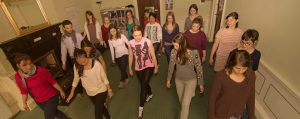 Central School of English students learn how to do Irish Dancing