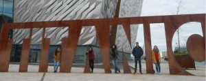 Central English School Dublin students on a trip to Belfast