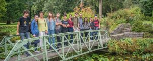 Central School of English students at the Botanic Gardens in Dublin