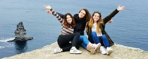 Central School of English, Dublin students at the Cliffs of Moher