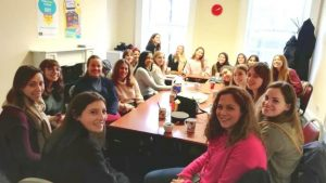 The Au Pair Club at the Central School of English in Dublin