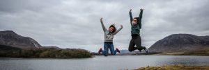 Central School of English Dublin Au Pairs jump at Glendalough